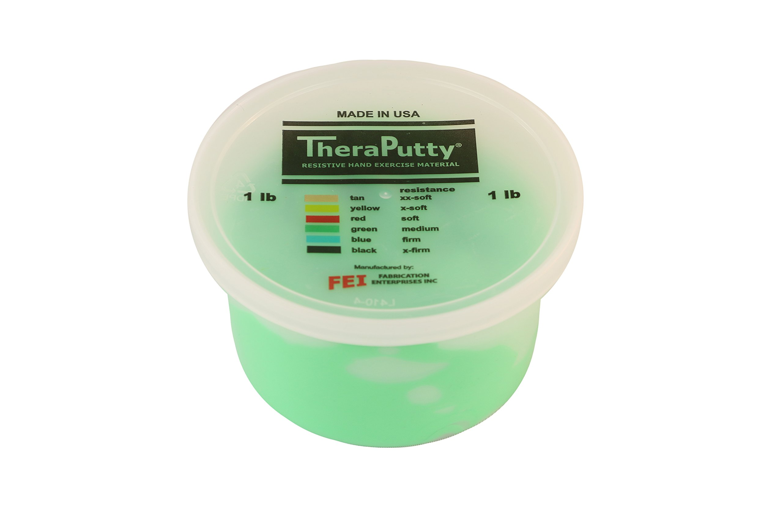 CanDo TheraPutty Standard Exercise Putty, Green: Medium, 1 lb by Cando