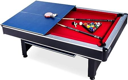 Rack Scorpius Juego de Billar/Piscina y Tenis de Mesa de 7 pies, Incluye Juego Completo de Accesorios para Piscina y Tenis de Mesa: Amazon.es: Deportes y aire libre