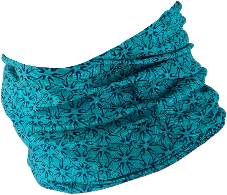 Schlauchschal Damen Hilltop Multifunktionstuch Bandana mit vern/ähten Saumkanten Halstuch Herren Schlauchtuch