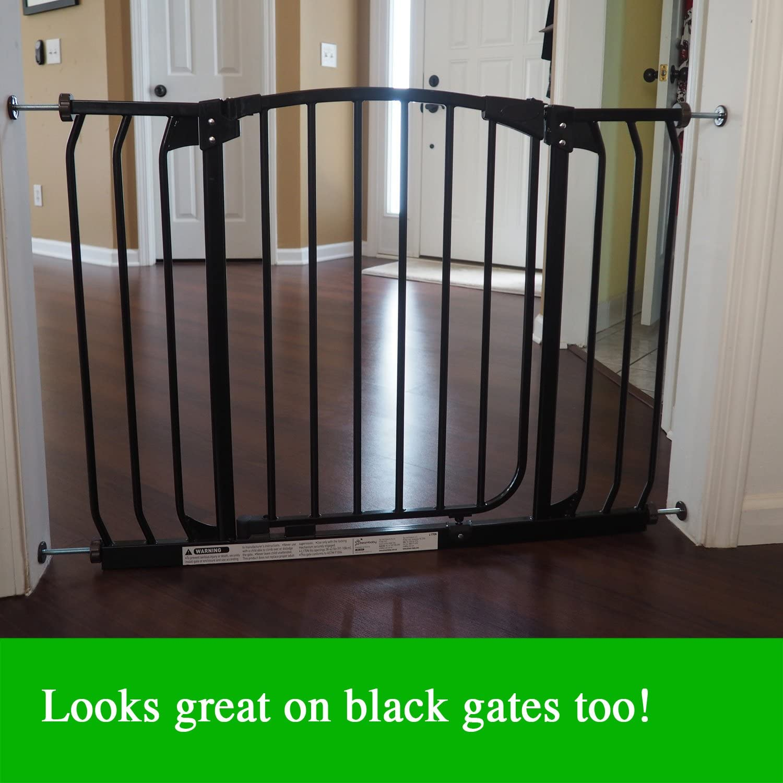 para Barreras de Seguridad para Beb/és y Mascotas Montadas a Presi/ón 8mm, Blanco Baby Gate Guru Varillas de Husillo Extra Largas M8 Paquete de 4 Reemplazos 8mm