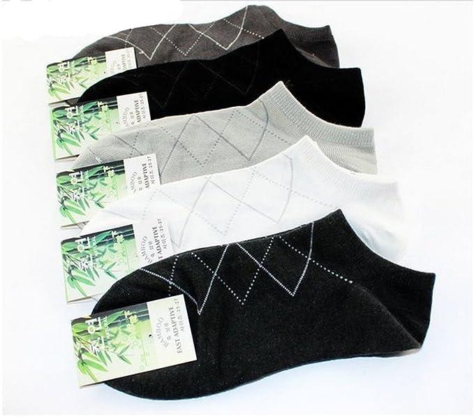Gaorui 5 Pares Calcetines Socks Finos Bambú Fibra sin Puño No Aprietan Cortos Tobillo: Amazon.es: Ropa y accesorios