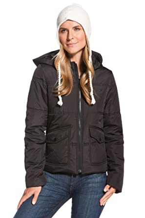 6c3807c72d01f Image Unavailable. Image not available for. Color  Lacoste Quilted  Thermolite Hooded Puffer Jacket Black ...