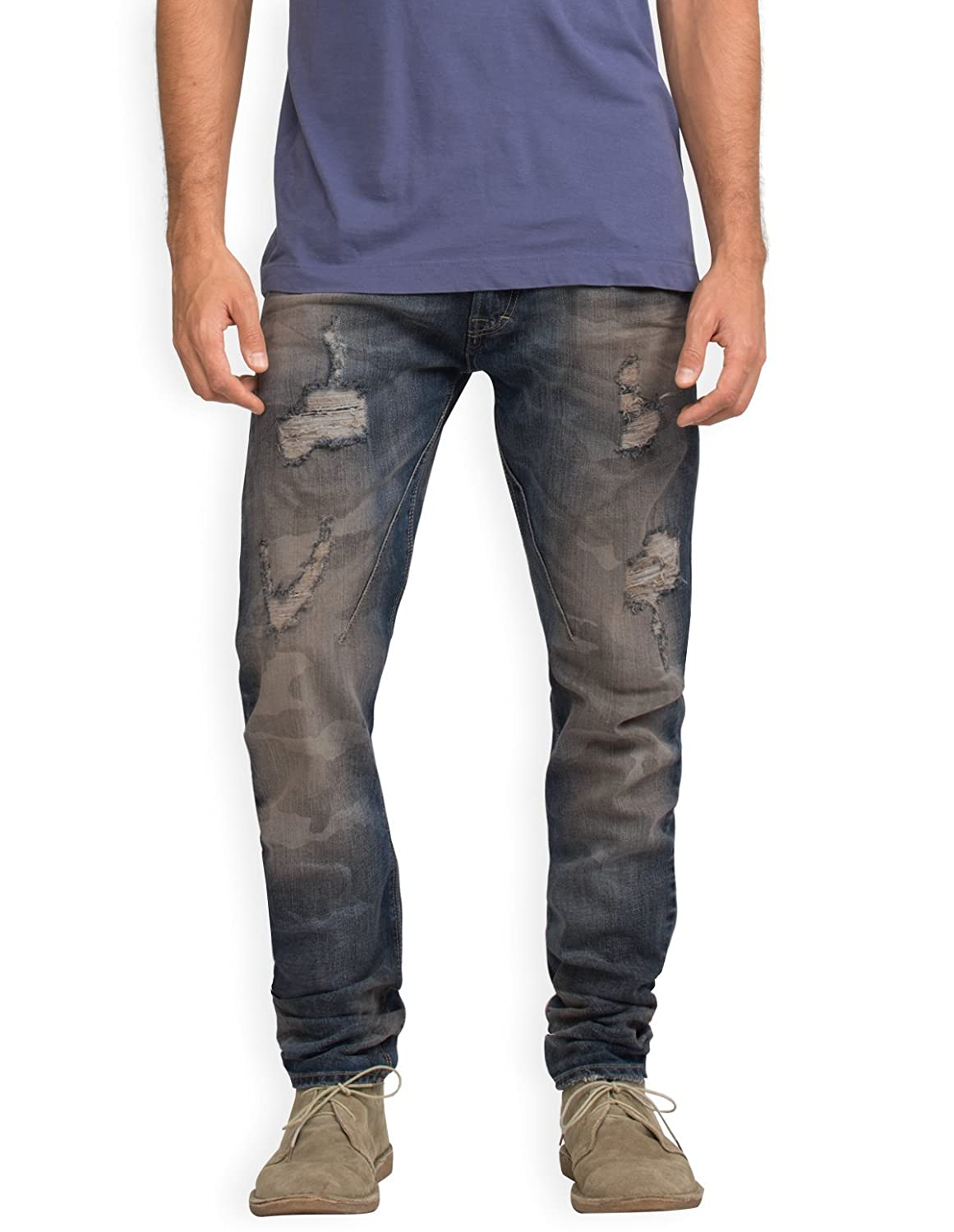 Neushop Men's Imperial P3723MAR09 Destroyed Ripped Distressed Denim Jeans Pants