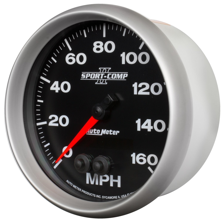 0-160 MPH Auto Meter 3681 SPORT-COMP II 5 GPS Speedometer