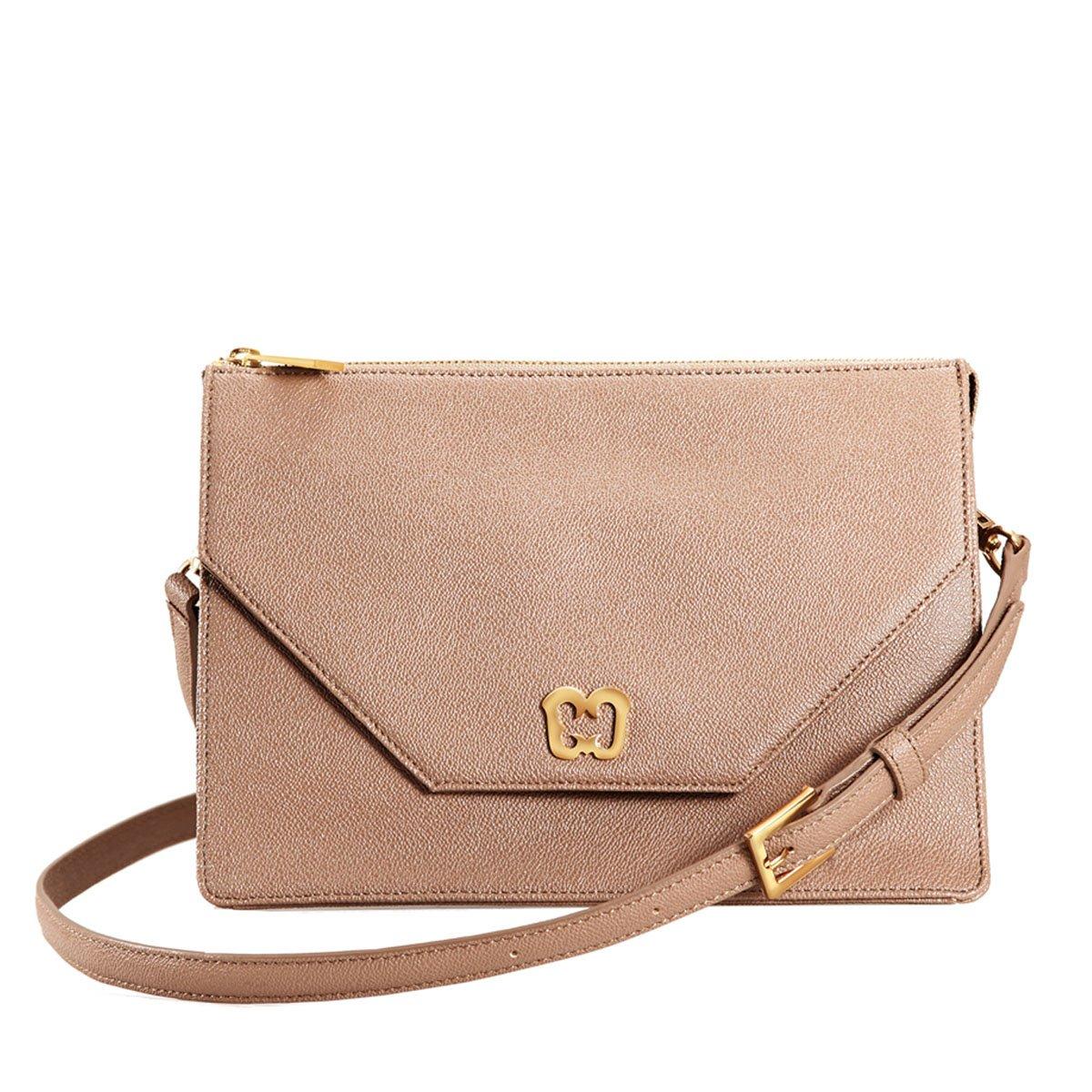 Eric Javits Designer Women's Luxury Handbag - Krysta - Latte