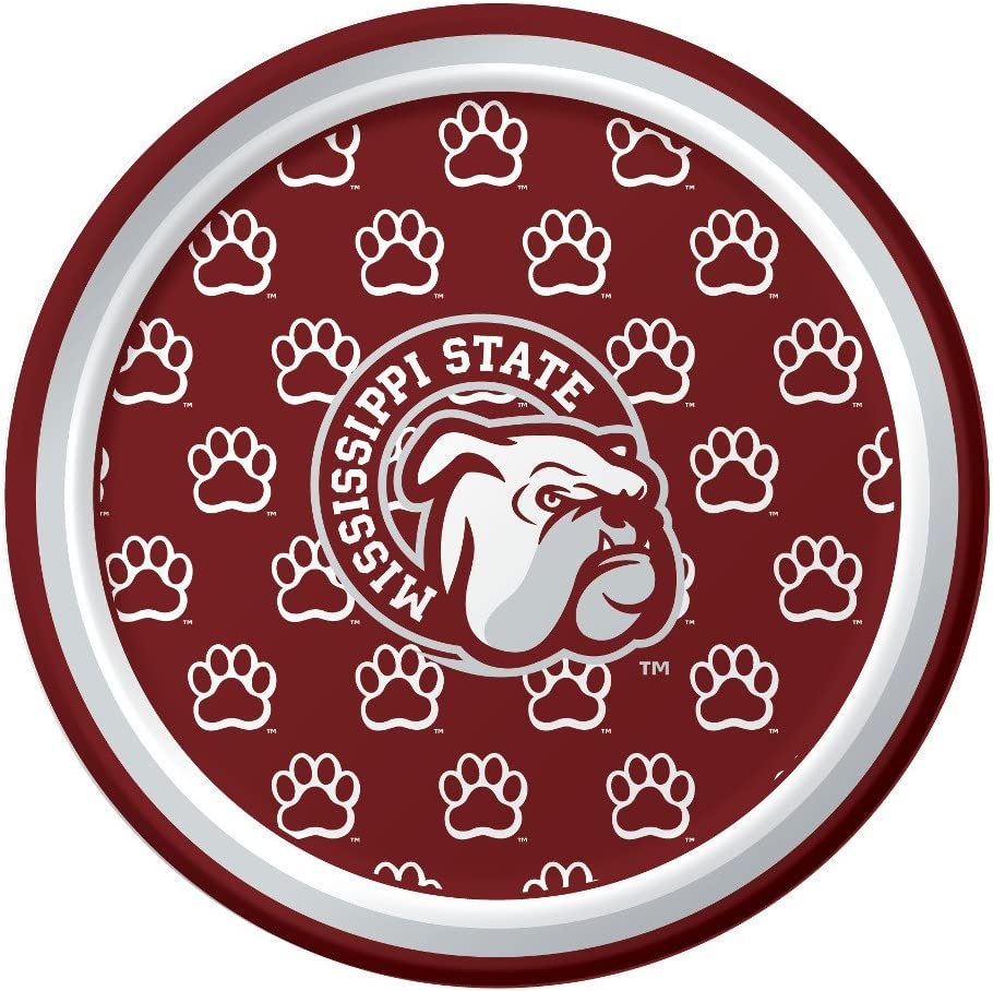 Creative Converting Mississippi state bulldog 8ct party plates, 17.4cm, Plastic plate