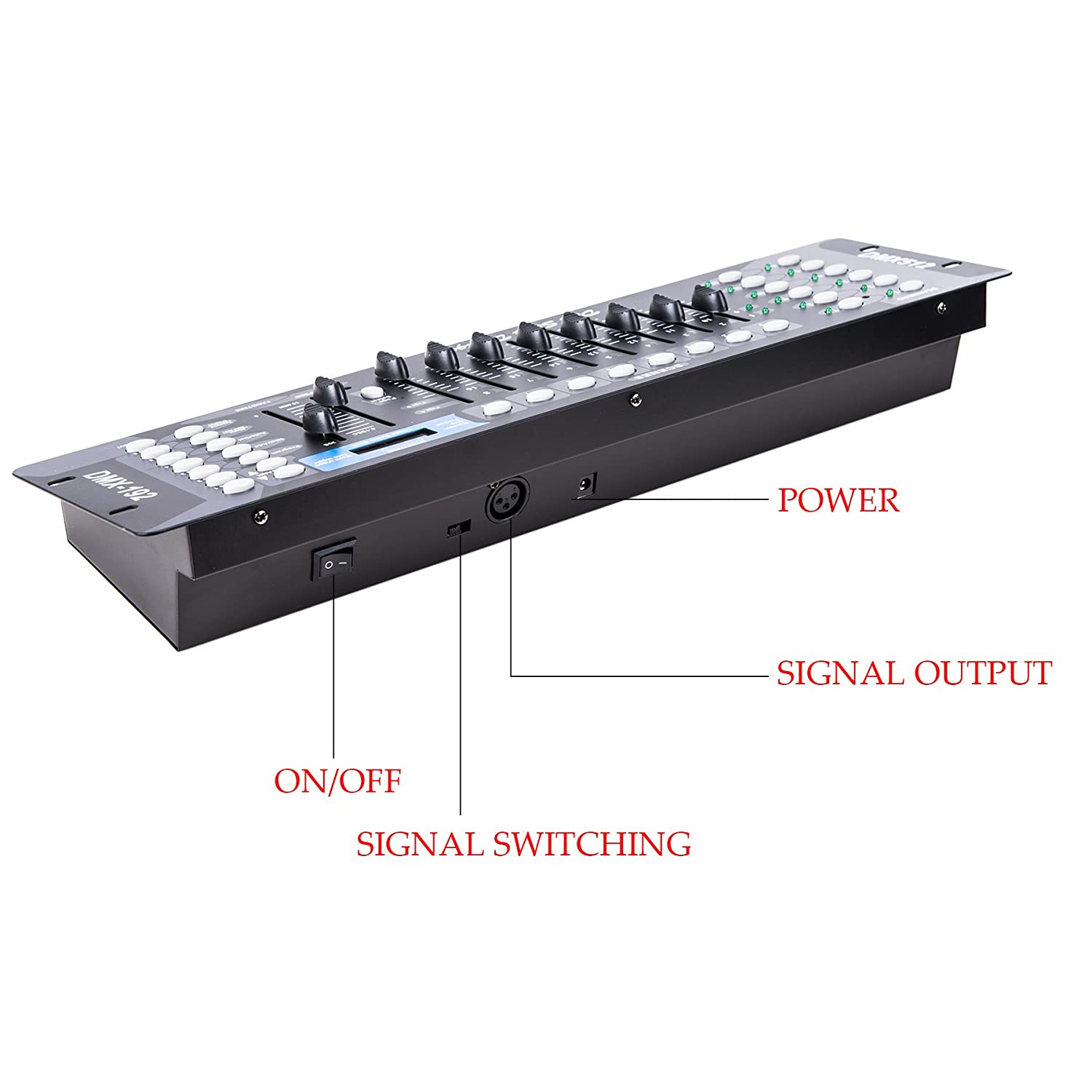 CO-Z 512 Stage Light Lighting DMX Controller 192 Channel Laser Projector Control Party Pub Night Club DJ KTV Disco Moving Heads Operator