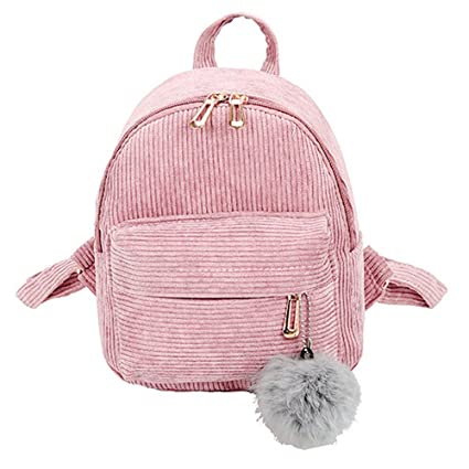 Amazon.com  BOLUOYI Cool Backpacks for Teen Girls in Middle School Girl  Hairball Corduroy School Bag Student Backpack Satchel Travel Shoulder Bag   Toys   ... 839e4f5a6d4ed