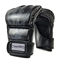 Cheerwing Fingerless Boxing Gloves UFC MMA Gloves