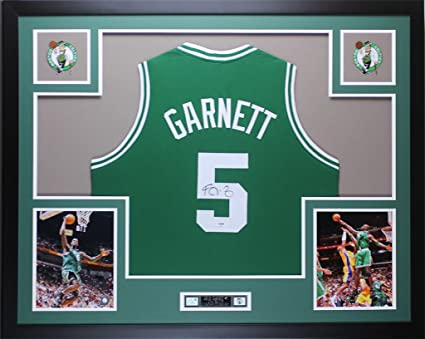 info for cfdfa f9a88 Kevin Garnett Autographed Green Celtics Jersey - Beautifully ...
