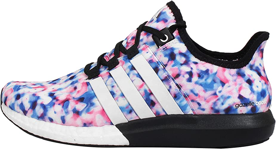 Tío o señor fusión Usual  adidas Women's CC Gazelle Boost Trainers, Blue Pink White, 4 UK:  Amazon.co.uk: Shoes & Bags