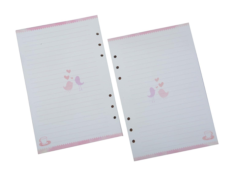 Funcoo 2set 45fogli planner filler Paper ricariche inserti pagine formato A5cute planner Paper per 6-holes legante, diario, lattiera, Day planner, notebook Line