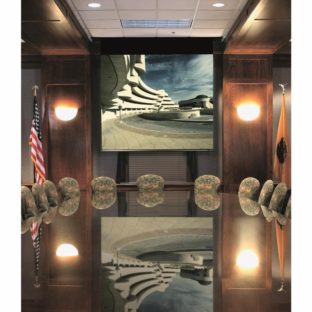 High Contrast Grey: Envoy Electric Screen - AV Format Size: 50