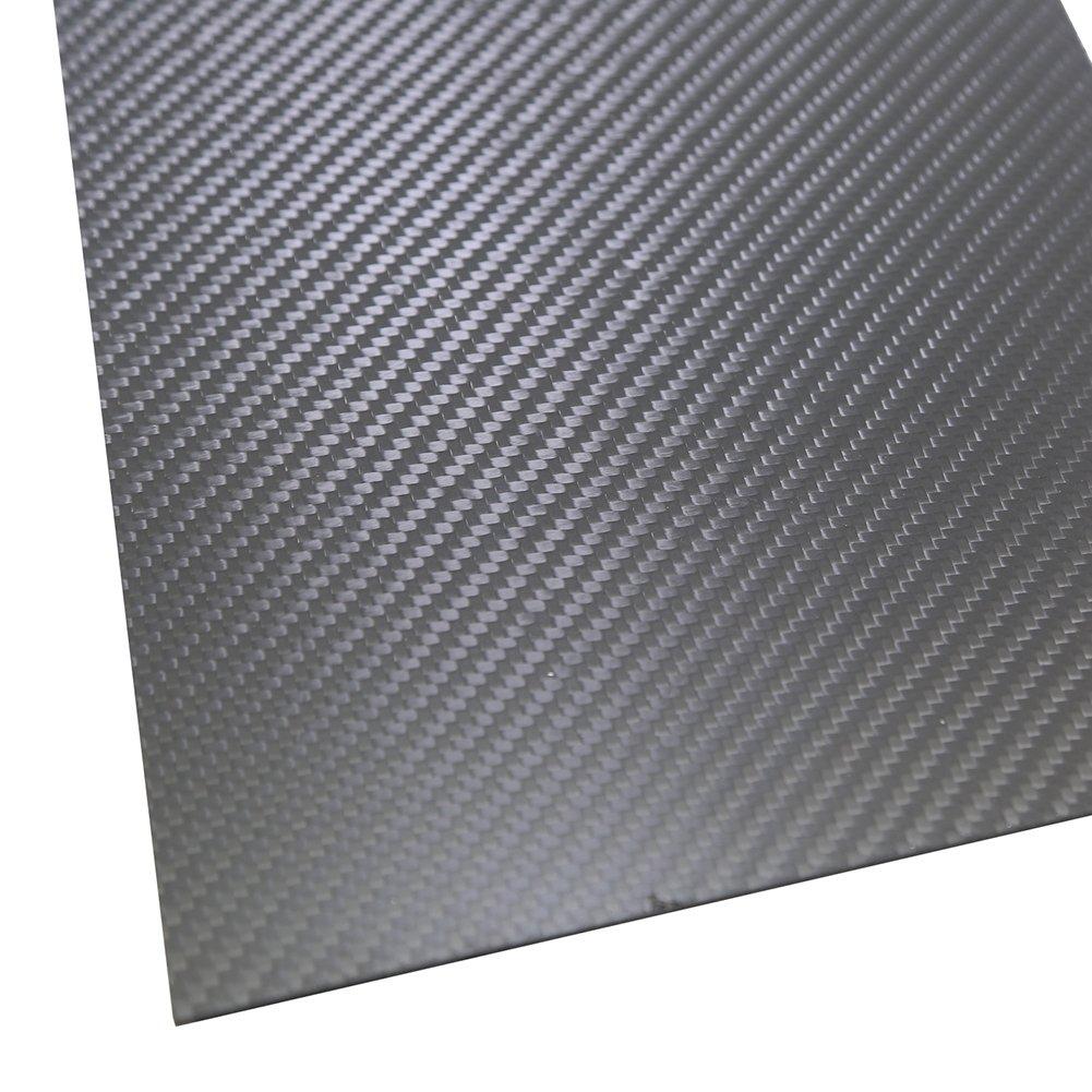 SHINA 1Pc 400 x 500 x 1mm 3K 100% Carbon Fiber Plate Panel Sheet 1 mm Thickness Matt Surface 1XTXWP-YM-1mm-400x500