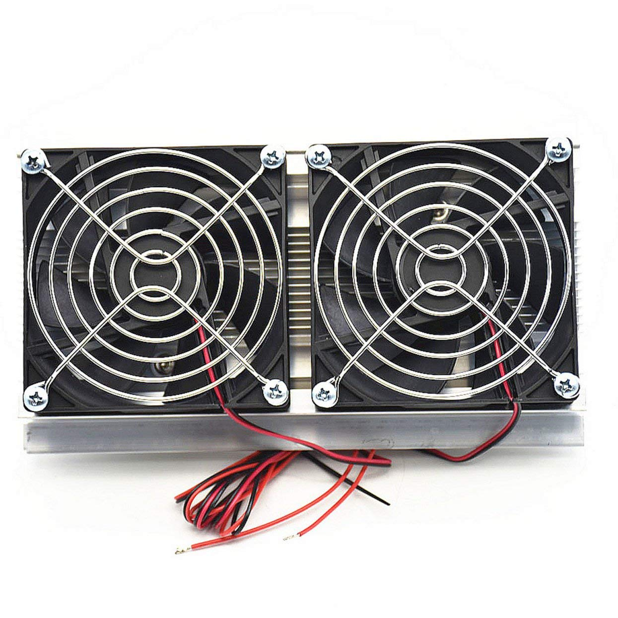 Lamijua Thermoelectric Peltier Refrigeration Cooling System Kit Semiconductor Cooler Large Radiator Cold Conduction Module Double Fans