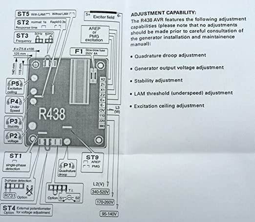 New automatic voltage regulator avr r438 for leroy somer amazon asfbconference2016 Choice Image