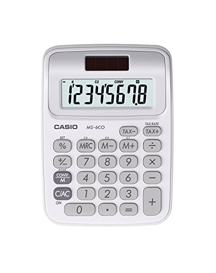 Amazon Casio Ms 6co Standard Function Calculator 25 Electronics