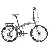 Indigo Flip 24 Unisex Folding Bike, 24-Inch Wheel, 7 Speed