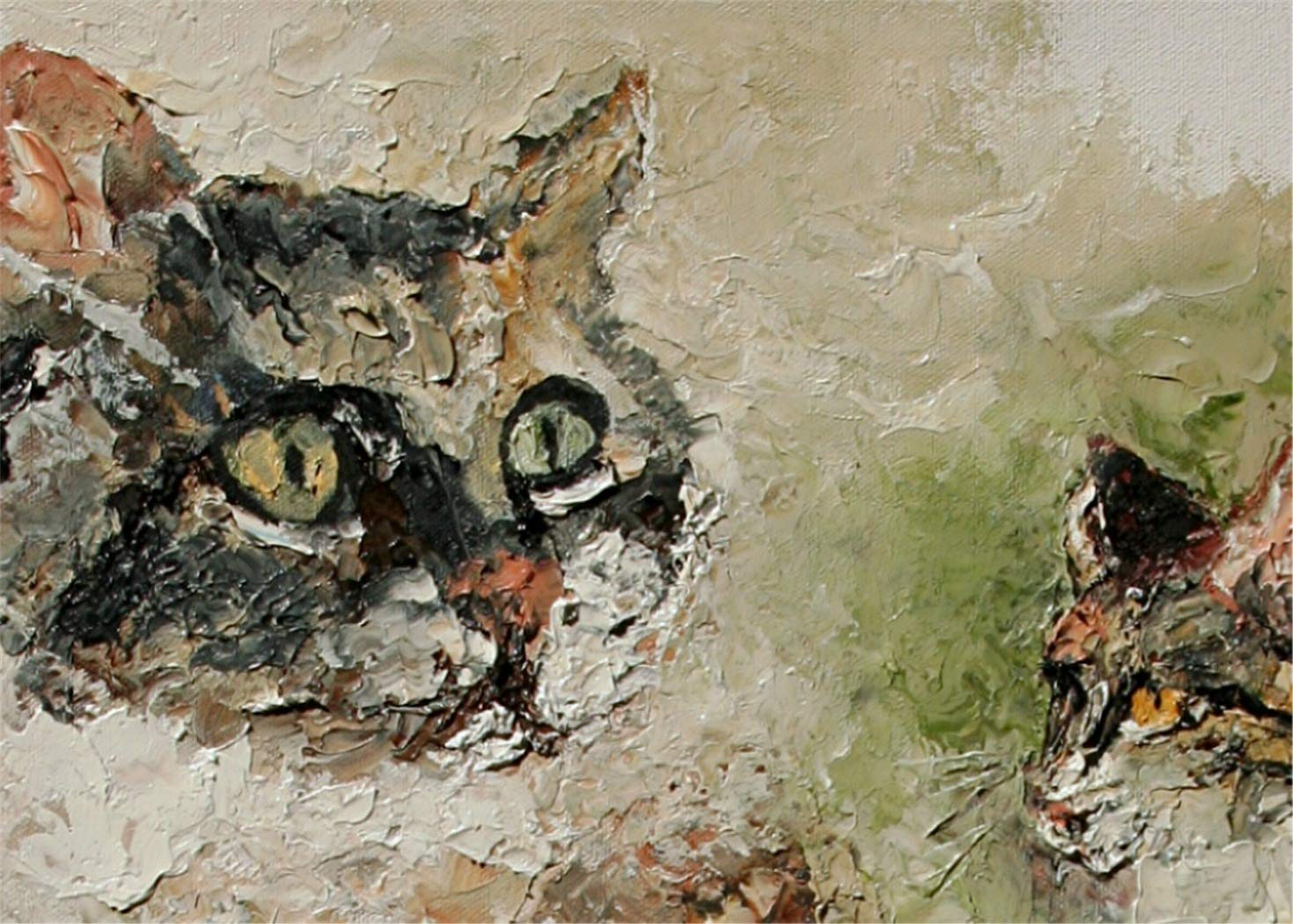 Cat's Cradle the adorable pets by internationally renown painter Andre Dluhos