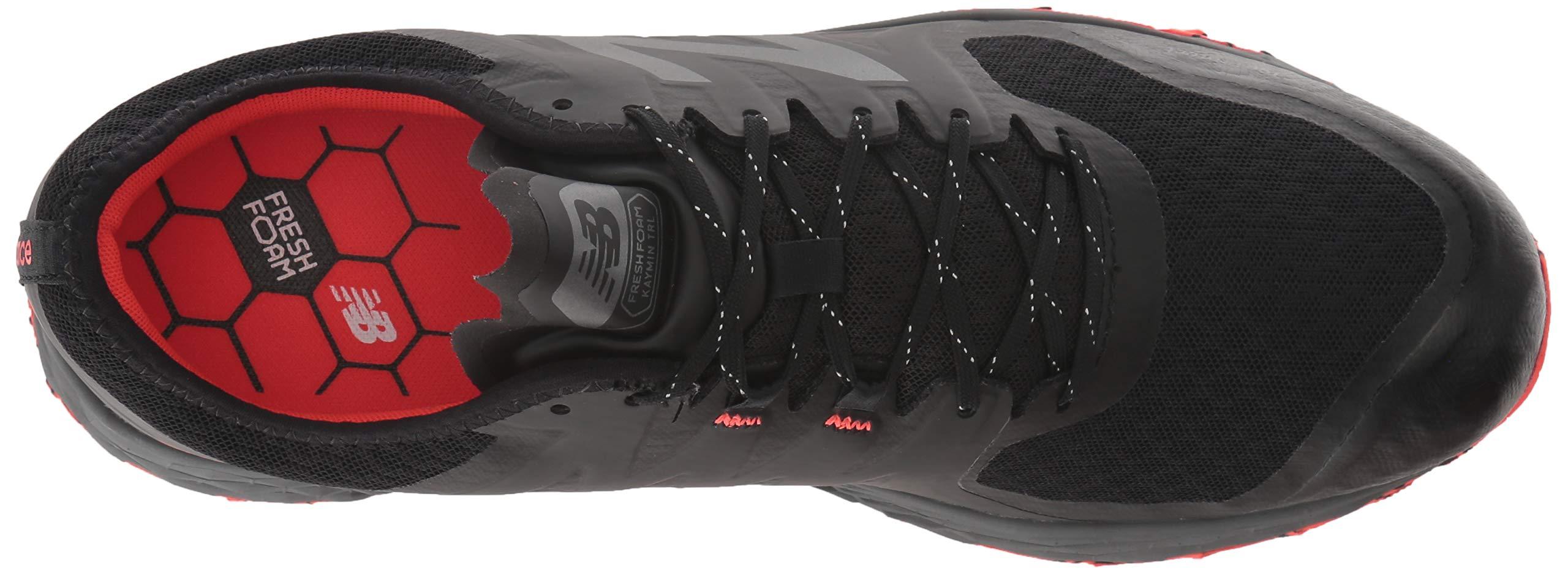 New Balance Men's Kaymin V1 Fresh Foam Trail Running Shoe, Black/Flame/Reflective, 1.5 D US by New Balance (Image #8)