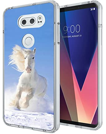 Amazon.com: LG V30 Funda Floral, gifun Slim negro suave TPU ...