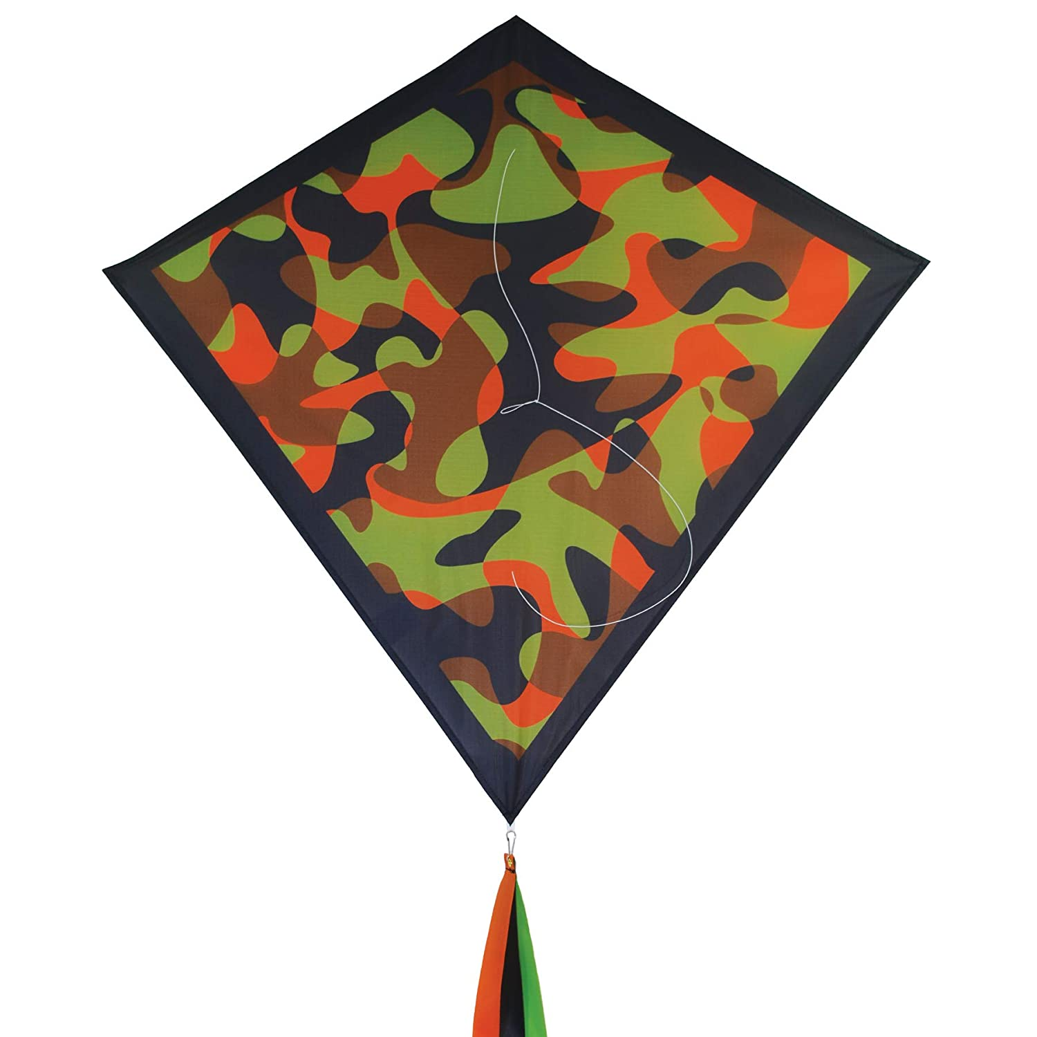 In the Breeze 3267 Dino Camo 30 Diamond Kite Easy Flying Camo Kite Fun
