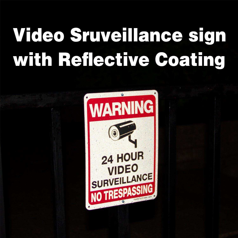 Amazon.com: Faittoo - Señal de vigilancia de vídeo, 4 ...