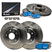Prime Choice Auto Parts SCD1169PR65152 Pair of Drilled and Slotted Rotors and Premium Ceramic Brake Pads