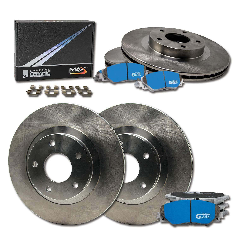 Fits: 2009 09 Lexus IS250 Canada Models OE Series Rotors + Ceramic Pads KM040443 Max Brakes Front /& Rear Supreme Brake Kit