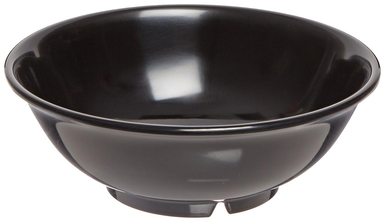 Amazon Com Carlisle 4373703 Melamine Footed Serving Bowl 24 Fl Oz Capacity 7 3 8 Dia X 2 5 8 H Black Case Of 12 Industrial Scientific