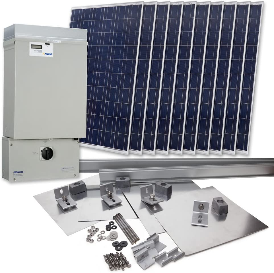 Grape Solar GS-2300-KIT Residential 2,300 Watt Grid-Tied Solar Power System Kit