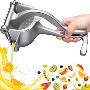 Stainless Steel Manual Fruit Juicer,Quality Alloy Heavy Duty Press Easy Use Fruit Hand Squeezer Fruit Juicer Extractor Tool for Kitchen Use Party Drinks