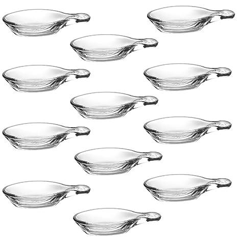 Pasabahce Gastroboutique - Juego de 12 Mini Tapas de Cristal/Cuchara de Cristal para Aperitivos