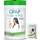 RespLabs CPAP Mask Wipes - 1x 110 Pack Bottle - Alcohol-free, Unscented and Gentle Cleansing.