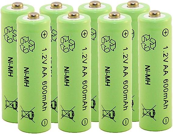 Rechargeable Battery Ni Mh Nimh Aa Mignon 1 2 Volt 600 Elektronik