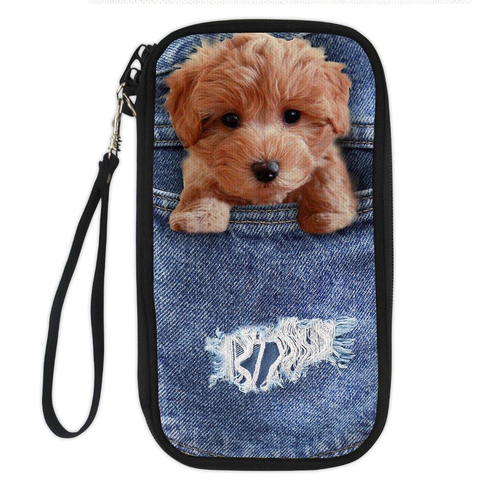 Amzbeauty Family Passport Holder 3D Cute Dog Print Travel Multi Passport Wallet