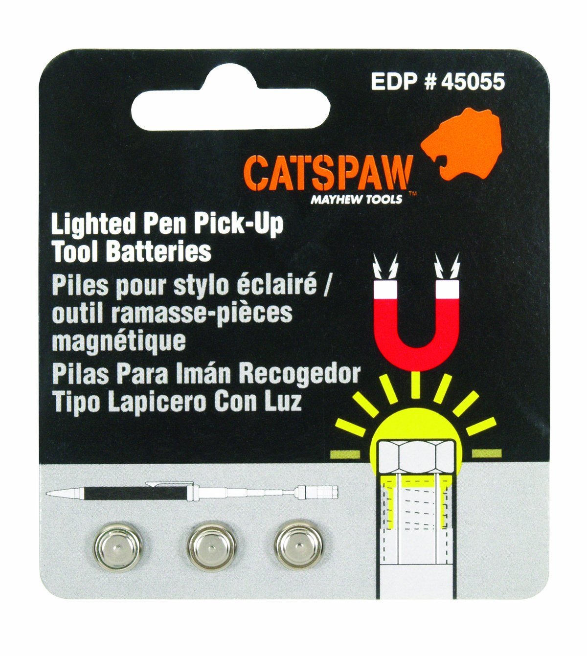 Mayhew Select 45055 Cats Paw Battery Pack for Lighted Pen Pick Up Tool - Led Household Light Bulbs - Amazon.com