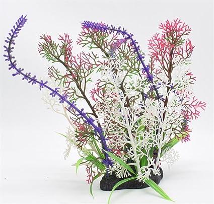 KinTTnyfgi Suministros de Acuario Plantas de Flores de Acuario plástico Artificial para Decoraciones de Tanque de