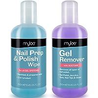 Mylee Prep + Wipe gelnagellakreiniger en reinigingsmiddelen voor uv-/led-manicurezeton, 2 x 250 ml