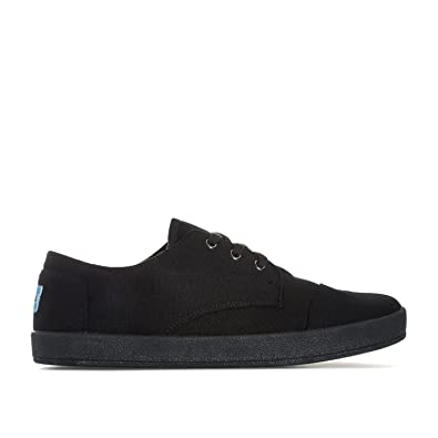 b817a2561c9 TOMS Mens Mens Paseo Canvas Pump in Black - UK 5.5  Amazon.co.uk ...