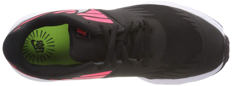 Nike Girl's Star Runner (GS) Running Shoe Black/Metallic Silver/Racer Pink/Volt Size 3.5 M US by Nike (Image #6)