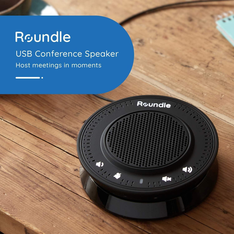 Haut-Parleur de conf/érence Roundle Compatible avec Skype//Zoom//Hangouts//Teams Plug /& Play