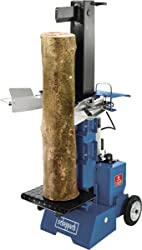 ein senkrecht stehender Holzspalter