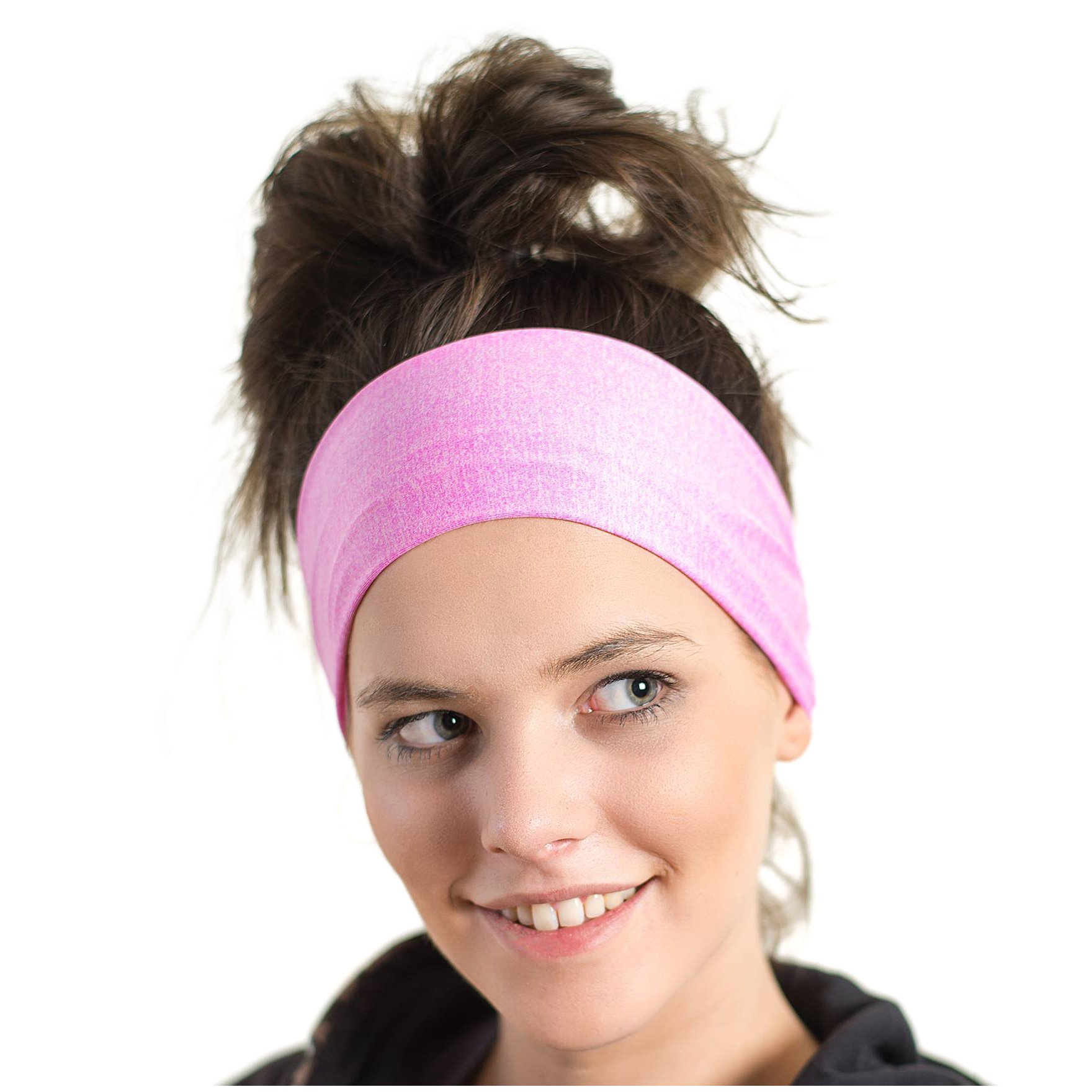 Red Dust Active Lightweight Sports Headband - Moisture Wicking Pink Sweatband - Ideal for Running, Cycling, Hot Yoga and Athletic Workouts - Designed for Women Borrowed by Men by Red Dust Active (Image #1)