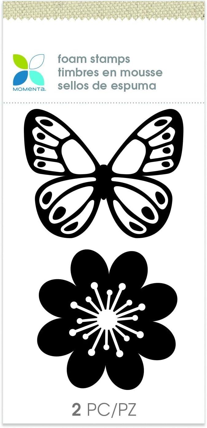 Black Momenta Butterfly Foam Stamp