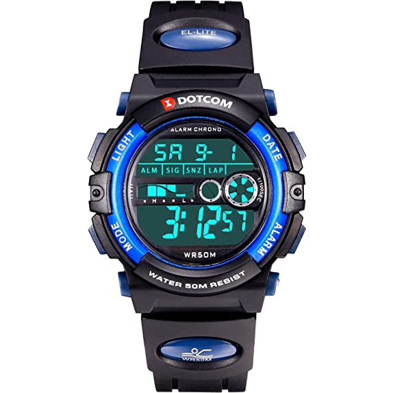 Kids Digital Watch Outdoor Sports 50M Waterproof Swimming Boys Girls Watch