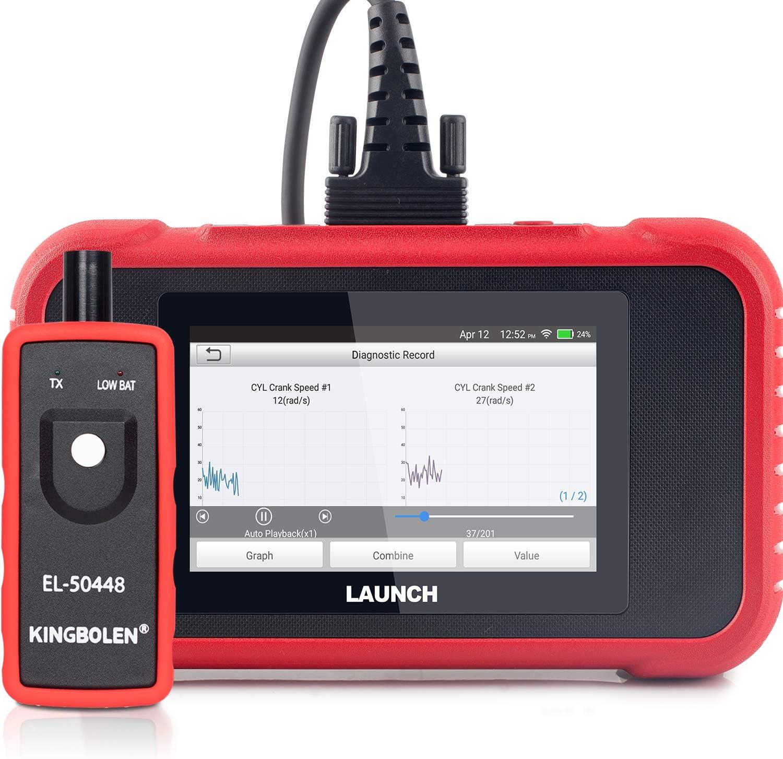 LAUNCH X431 CRP129E OBD2 Lecteur de Code EOBD Support Moteur ABS SRS at+Huile de Frein SAS ETS TMPS R/éinitialisation de l/écran Tactile en Un clic
