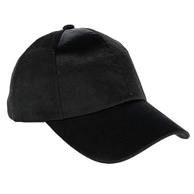 CTM Women s Textured Satin Baseball Cap 4b22b5dfed7f