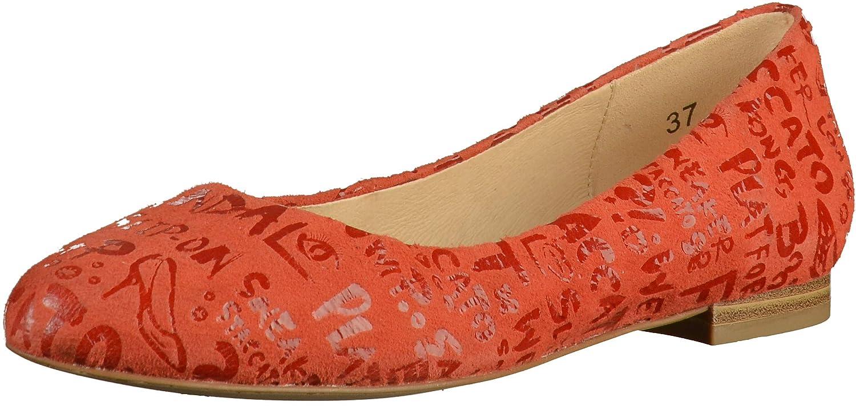 Orange CAPRICE 9-9-22114-32 Damen Ballerinas