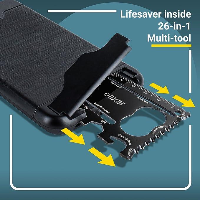 Funda iPhone 8 Plus / 7 Plus Olixar X-Ranger Survival -Supervivencia multi-tool: Amazon.es: Electrónica